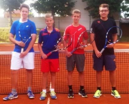 v. l.: Alexander Weißenbach, Nico Waltenberger, Patrick Waltenberger, Dennis Kordick